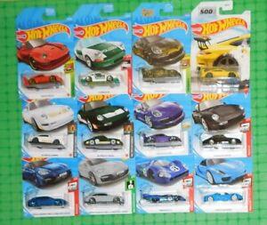 Hot Wheels - Various Years - Porsche  - Lot of 12 - w/ Carrera & GT3 Models