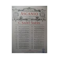 SAINT-SAËNS Camille Ascanio No 7 Chant Piano 1889 partition sheet music score