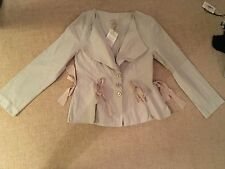 Out of Xile Jacket Size 10 Cream RRP £180 Made in the UK