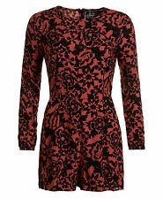 Superdry Gathered Bell Sleeve Playsuit Eivissa Floral Coral S