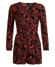 d1990d3da94 Superdry Gathered Bell Sleeve Playsuit Eivissa Floral Coral S