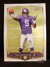 2014 Topps Chrome Teddy Bridgewater #173 RC Rookie Vikings Panthers