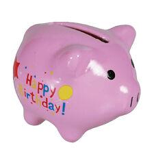 Mini tirelire cochon rose 5 x 4.5 x 4 cm