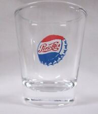 Pepsi-Cola 1950 Logo on Clear Shot Glass