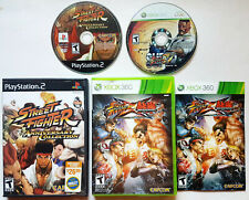 Street Fighter VIDEO GAMES LOT (for Playstation PS2 & XBOX 360) ORIGINAL