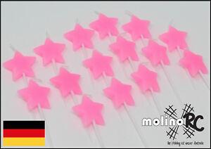 15x Sternkerze rosa für Einhorn oder Prinzessin Lillifee Geburtstag Kerze Torten