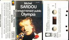 MICHEL SARDOU K7 AUDIO FRANCE ENREGISTREMENT OLYMPIA