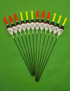 *BARGAIN* 12 x Assorted High Quality Pole Fishing Floats (Pack N)