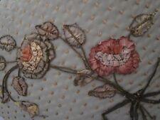 Vintage French Silk Ombres Ribbon Roses applique trim Millinery Dress coastume