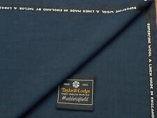Taylor & Lodge, lana/lino applicazione della sopraccoperta tessuto, Mid Blu/Navy Made in England 2.5 M