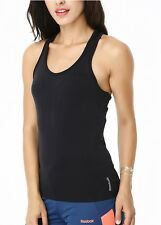 Reebok Strappy Long Bra Vest Tabk Top Ladies Womens Gym Training Fitness XS
