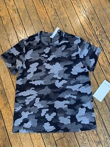Lululemon ALL YOURS TRAINING TEE HERITAGE SPECKLE CAMO JACQUARD BLK SZ 4 NWT