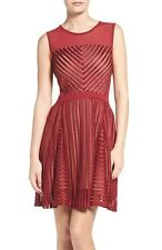 BNWT FCUK French Connection @ ASOS Berry Red Fast Score Stripe Cocktail Dress