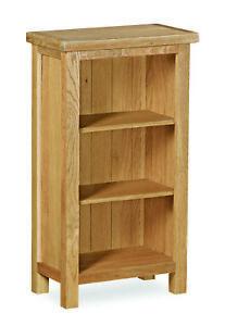 Baysdale Rustic Oak Low Narrow Bookcase / Shelving Unit / Bookshelf / Rustic Oak