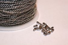 32ft Nickel Silver 1.5mm Ball bead Chain links Expedited Shipping Available