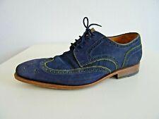 Prime Shoes Herren Schuhe Budapester Wildleder Blau-Gelb 43 UK.8,5 Shoes