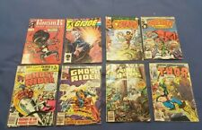 Lot of 8 Marvel comics (late 70s to early 80s) - Ghost Rider, Punisher, Thor