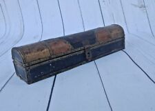 VINTAGE OLD WOODEN PEN/PENCIL BOX BASS FITTED PAINTED HANDCRAFTED KALAMDAN K1