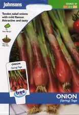 Johnsons Seeds - Pictorial Pack - Vegetable - Onion (Spring) Toga - 300 Seeds
