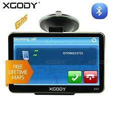 XGODY Portable 5'' SAT NAV GPS Navigation Unit w/ Free UK EU 2D/3D Map Bluetooth