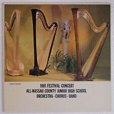 1981 FESTIVAL CONCERT: All Nassau Junior High Orchestra LONG ISLAND LP Private