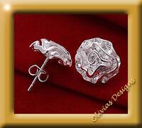 Ohrstecker Rose - 925 Sterling Silber & Ohrringe - Blumen