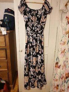 BooHoo Off Shoulder Maxi Dress Size 18
