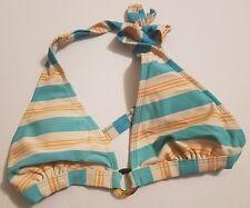 Fossil Swim Bikini top Small Padding Halter Excellent Vintage Pattern (b)