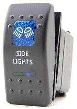 Rocker Switch SIDE LIGHTS - Blue - LED 4x4 Boat Caravan Marine 12v