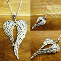 Chain Necklace Fashion Silver Guardian plated Pendant Sweater Chain Angel Wings