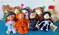 Lot Of 9 Wee Bear Village Ganz Plush w/ TAGS Animals, Holidays  & More!
