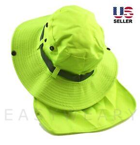 Men Women Bucket Hat Boonie Neck Flap Cover Sun Brim Fishing Garden Hiking Cap