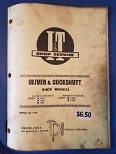 Oliver & Cockshutt I&T Shop Service Manual 1755 1855 1955 G-850 G-940  O-24
