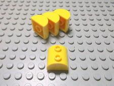 Lego 4 Halbrundsteine 2x2 gelb  30165 Set 4888 5884 7243 7044