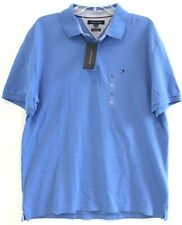 Tommy Hilfiger Mens Ocean Blue Custom Slim Fit Cotton Polo Shirt NWT Size XL