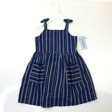 Cat & Jack Navy Blue Striped Baby and Toddler Sundress PICK A SIZE NWT
