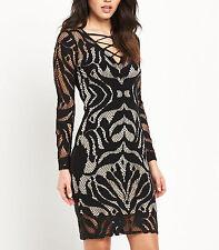 Lipsy Lace Long Sleeve Mini Dresses for Women