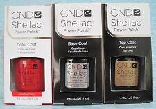 CND Shellac UV LED Gel Power Polish 3-pc Set WILDFIRE BASE TOP COAT Auth NIB