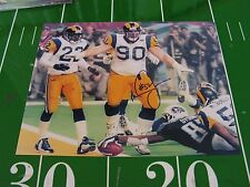THE TACKLE SUPER BOWL XXXIV SIGNED BY MIKE JONES COA FROM MMA ST. LOUIS RAMS #2