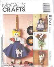 "8707 UNCUT SEWING McCalls Craft Pattern 32"" 36"" Broom Dolls + clothes OOP SEW FF"