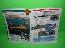 AEROSPATIALE AS 350 ECUREUIL TV REPORTING AIRCRAFT FACTS CARD AIRPLANE BOOK  119