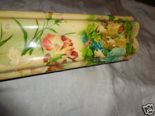 ANTIQUE VICTORIAN CELLULOID GIRL PORTRAIT GRAPES FLORAL HUMP GLOVE DRESSER BOX