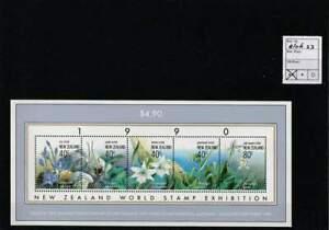 Nieuw-Zeeland postfris 1990 MNH block 23 - Bloemen / Flowers (X163)