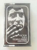 VICTOR JARA Te Recuerdo Amanda SPAIN CASSETTE TAPE 1975