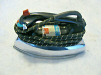 Vintage GE steam and dry electric iron with cloth cord
