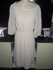 Robe beige nude manches 3/4 femme H&M taille 36