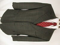 Brooks Brothers Mens Brown Plaid 3 Btn Cashmere Wool Sport Coat 42S