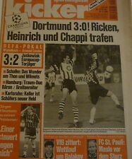 Kicker 1996 , Nr.79 , Borussia Dortmund , Schalke 04 , Arsenal London , KSC