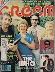 1979 Creem September - The Who, Cars; Ted Nugent; Joe Jackson; Cheap Trick