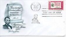 US FDC #1143 Lincoln Credo, Artmaster (5243)
